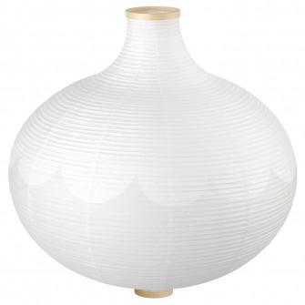 IKEA RISBYN Abajur lustra, forma de ceapa, alb, 57 cm