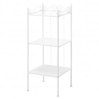 IKEA RONNSKAR Etajera, alb, 42x103 cm