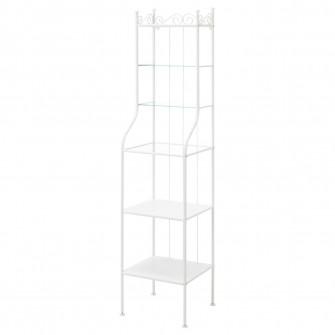 IKEA RONNSKAR Etajera, alb, 42x176 cm