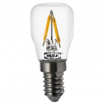 IKEA RYET Bec LED E14 80 lumeni, transparent