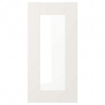 IKEA SAVEDAL Usa sticla, alb, 30x60 cm