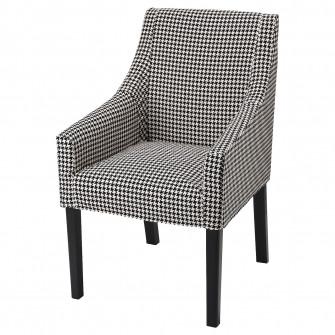 IKEA SAKARIAS Scaun cu brate, negru, Vibberbo