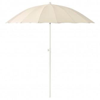 IKEA SAMSO Umbrela soare, inclinat, bej, 200 cm