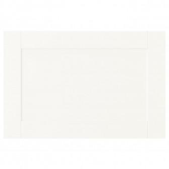IKEA SANNIDAL Usa cu balamale, alb, 60x40 cm