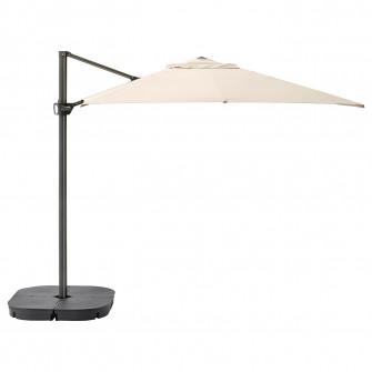 IKEA SEGLARO / SVARTO Umbrela soare suspendata+baza, in