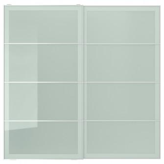 IKEA SEKKEN Set usi glisante, stcl mt, 200x201 cm