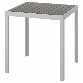 IKEA SJALLAND Masa exterior, gri inchis, gri, 71x71x73