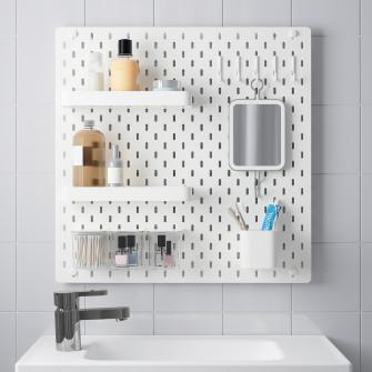 IKEA SKADIS Panou perforat/suport, alb, 56x56 cm