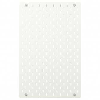 IKEA SKADIS Panou perforat, alb, 36x56 cm