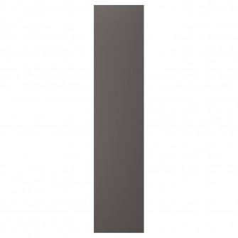 IKEA SKATVAL Usa cu balamale, gri inchis, 40x180 cm