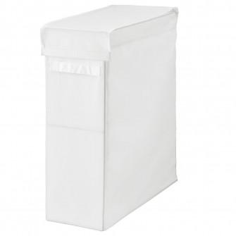 IKEA SKUBB CoT rufe, alb, 80 l