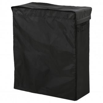 IKEA SKUBB CoT rufe, negru, 80 l