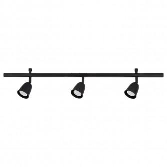 IKEA SKURUP Tina tavan 3 spoturi, negru