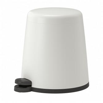 IKEA SNAPP Cos cu pedala, alb, 5 l