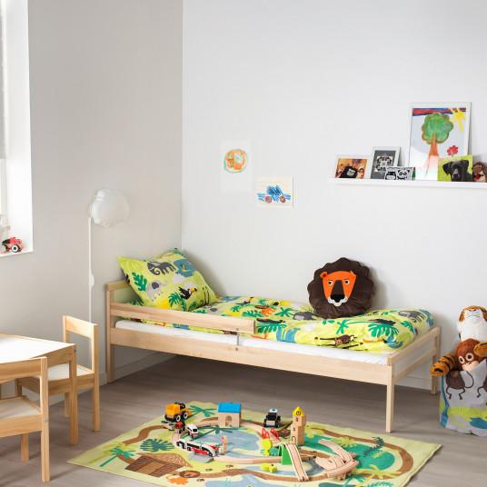 IKEA SNIGLAR Cadru pat+somiera, fag, 70x160 cm