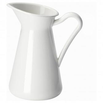 IKEA SOCKERART Vaza, alb, 16 cm