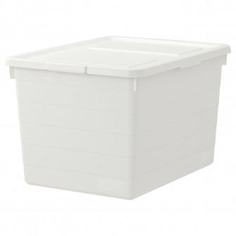 IKEA SOCKERBIT Cutie cu capac, alb, 38x51x30 cm