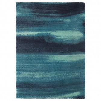 IKEA SONDEROD Covor, fir lung, albastru, 170x240 cm