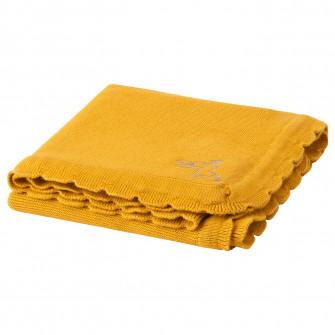 IKEA SOLGUL Patura, galben inchis, 70x90 cm