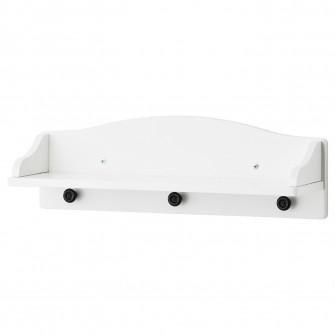 IKEA SOLGUL Etajera, alb, 60x19 cm