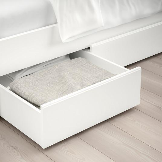 IKEA SONGESAND Cadru pat+2 cutii depozitare, alb, 140x200 cm