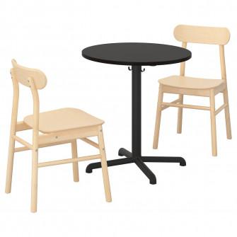 IKEA STENSELE / RONNINGE Masa + 2 scaune, antracit, ant