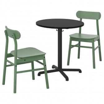 IKEA STENSELE / RONNINGE Masa + 2 scaune, antracit antr
