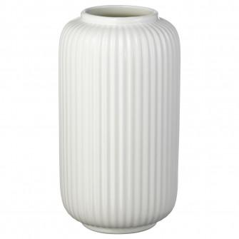 IKEA STILREN Vaza, alb, 22 cm