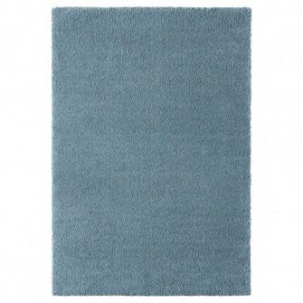 IKEA STOENSE Covor, fir scurt, albastru md, 133x195 cm