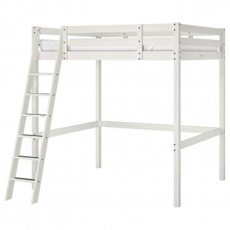 IKEA STORA Cadru pat supraetajat, vpst alb, 140x200 cm
