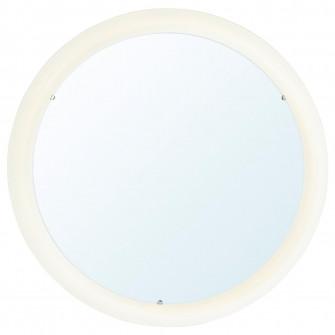 IKEA STORJORM Oglinda cu iluminat integrat, alb, 47 cm