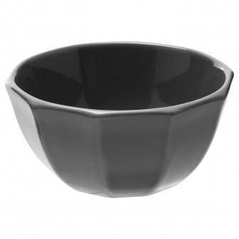 IKEA STRIMMIG Bol, ceramica glz gri, 15 cm
