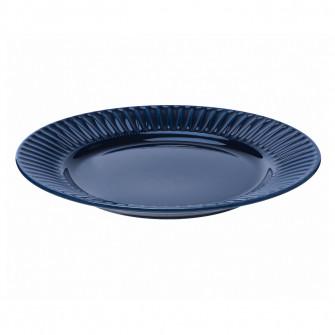 IKEA STRIMMIG Farfurie, ceramica glz albastru, 27 cm