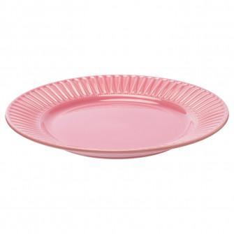 IKEA STRIMMIG Farfurie, ceramica glz roz, 27 cm