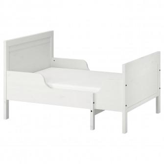 IKEA SUNDVIK Cadru pat cu somiera, alb, 80x200 cm