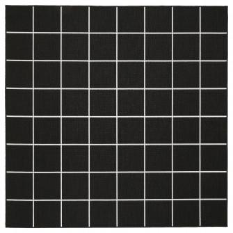 IKEA SVALLERUP Covor tesatura plata, int/ext, negru, al