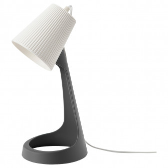 IKEA SVALLET Veioza birou, gri inchis, alb