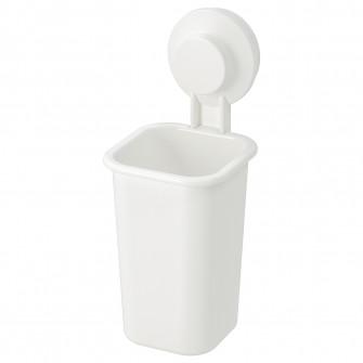 IKEA TISKEN Suport periuTa dinTi cu ventuza, alb