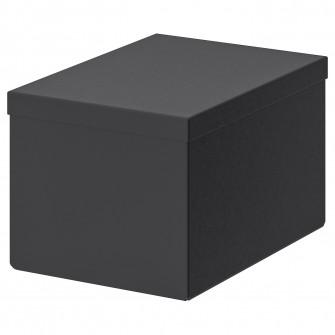 IKEA TJENA Cutie cu capac, negru