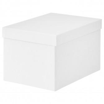 IKEA TJENA Cutie cu capac, alb