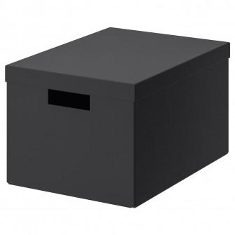 IKEA TJENA Cutie cu capac, negru, 25x35x20 cm