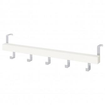IKEA TJUSIG Cuier usa/perete, alb, 60 cm
