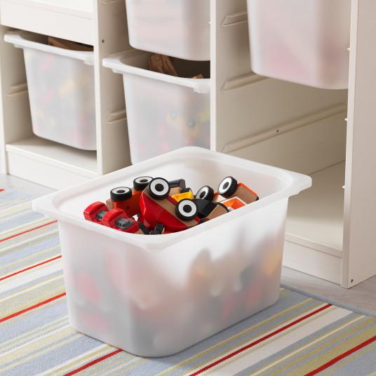 IKEA TROFAST Ansamblu depozitare+cutie, alb, 99x44x94 cm