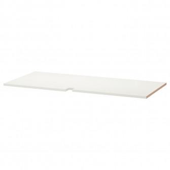 IKEA UTRUSTA Polita corp baza colt, alb, 128 cm