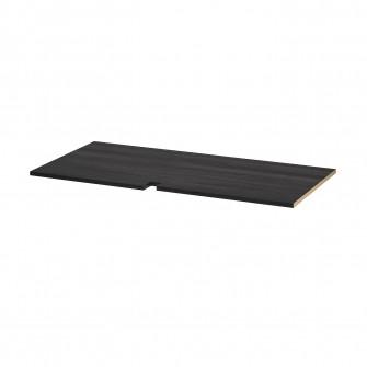 IKEA UTRUSTA Polita corp baza colt, aspect lemn negru,