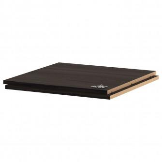 IKEA UTRUSTA Polita, aspect lemn negru, 60x60 cm