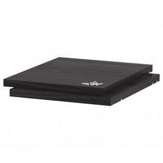 IKEA UTRUSTA Polita, aspect lemn negru, 30x37 cm