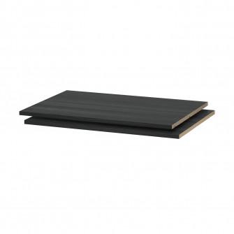 IKEA UTRUSTA Polita, aspect lemn negru, 80x60 cm