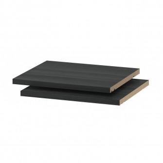 IKEA UTRUSTA Polita, aspect lemn negru, 40x37 cm