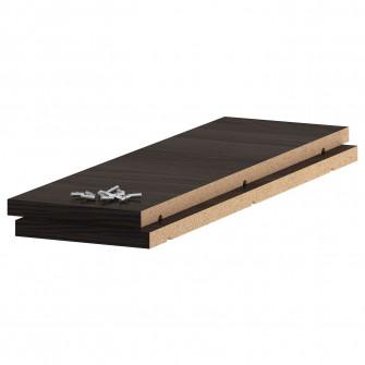 IKEA UTRUSTA Polita, aspect lemn negru, 20x60 cm